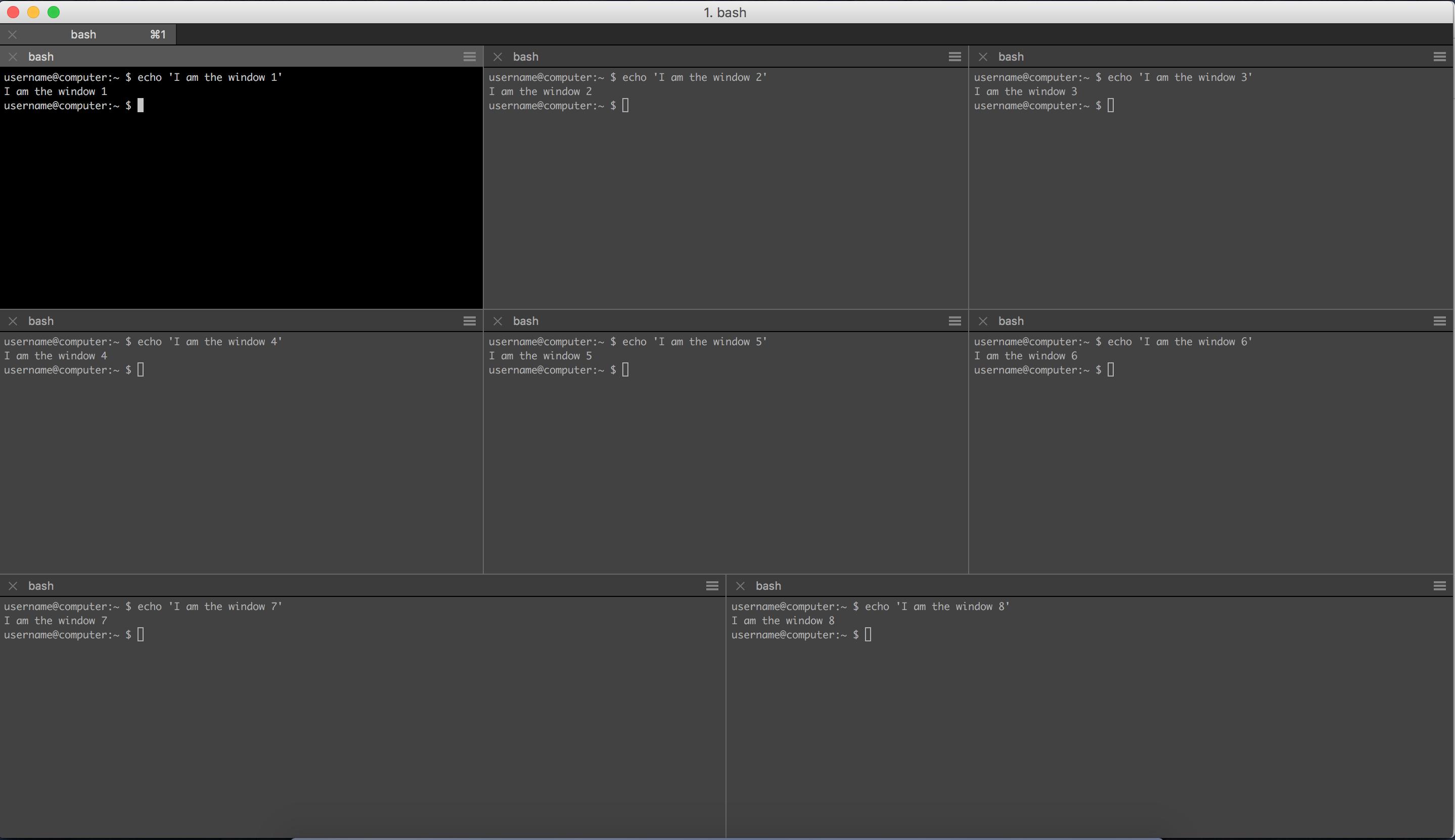 iTerm – Automatic mutliple panes with AppleScript   BG Go